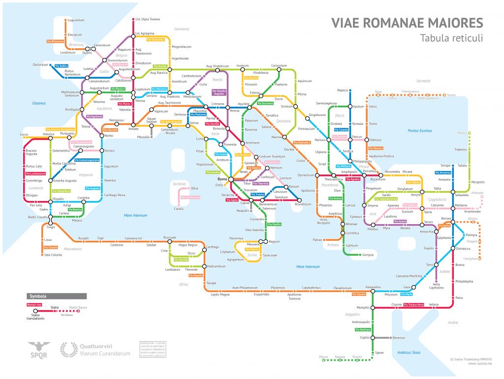 Romos imperijos kelių žemėlapis