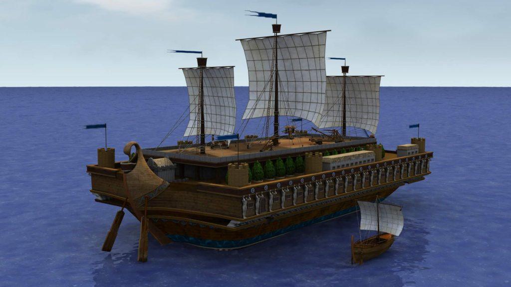 Laivo Syracusia rekonstrukcija